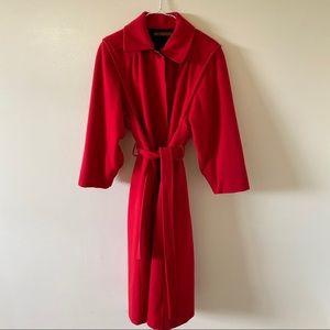 VINTAGE Pure Virgin Wool Utex Long Pea Coat